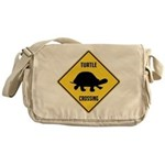 Turtle Crossing Sign Messenger Bag