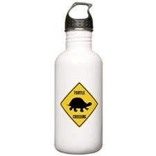 Turtle Crossing Sign Water Bottle