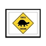 Turtle Crossing Sign Framed Panel Print