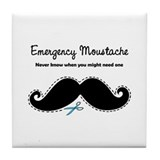 Emercency Moustache Tile Coaster