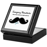 Emercency Moustache Keepsake Box