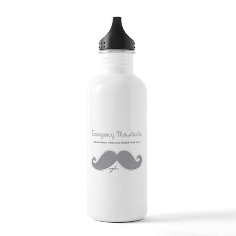 Emercency Moustache Stainless Water Bottle 1.0L