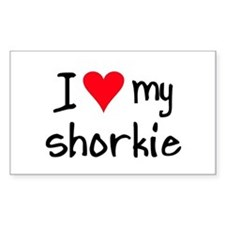 I LOVE MY Shorkie Decal