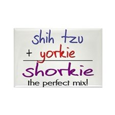 Shorkie PERFECT MIX Rectangle Magnet