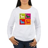 Dachshund Silhouette Pop Art T-Shirt