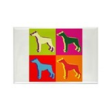 Doberman Pinscher Silhouette Pop Art Rectangle Mag