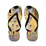 Klimt - The Kiss Flip Flops