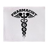 Pharmacist Caduceus Throw Blanket