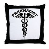 Pharmacist Caduceus Throw Pillow