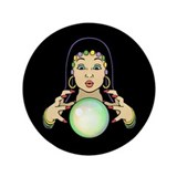 "Mardi Gras Gypsy 3.5"" Button"