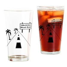 Ukulele Exit Drinking Glass