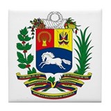 Venezuela Coat of Arms Tile Coaster