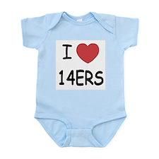 I heart 14ers Infant Bodysuit