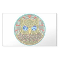 Vintage Owl Mandala Decal