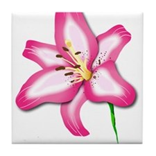 Star Lily Tile Coaster