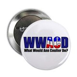 "WWACD? - What would Ann Coulter Do? 2.25"" Button ("
