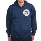 Power Button Zip Hoodie