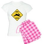Rabbit Crossing Sign Women's Light Pajamas