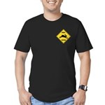 Rabbit Crossing Sign Men's Fitted T-Shirt (dark)
