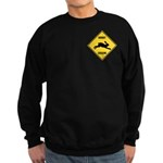 Rabbit Crossing Sign Sweatshirt (dark)