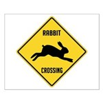 Rabbit Crossing Sign Small Poster