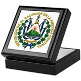 El Salvador Coat of Arms Keepsake Box