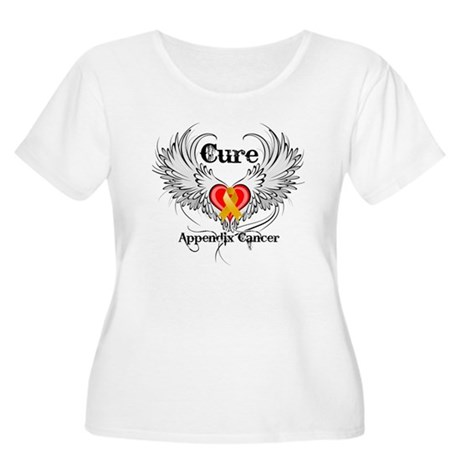 Cure Appendix Cancer Women's Plus Size Scoop Neck