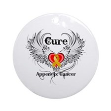 Cure Appendix Cancer Ornament (Round)