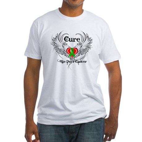 Cure Bile Duct Cancer Fitted T-Shirt
