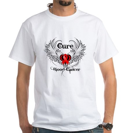 Cure Blood Cancer White T-Shirt