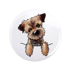 "Pocket Border Terrier 3.5"" Button (100 pack)"