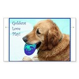 Goldens Love Play Decal