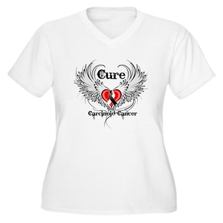 Cure Carcinoid Cancer Women's Plus Size V-Neck T-S