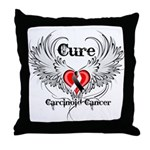 Cure Carcinoid Cancer Throw Pillow
