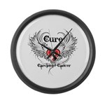 Cure Carcinoid Cancer Large Wall Clock
