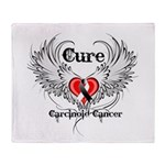 Cure Carcinoid Cancer Throw Blanket
