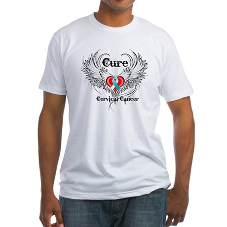 Cure Cervical Cancer Fitted T-Shirt