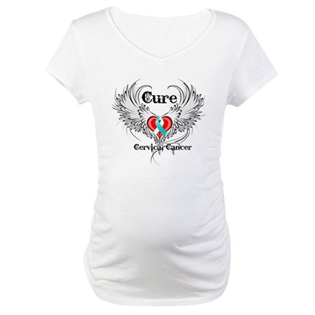 Cure Cervical Cancer Maternity T-Shirt