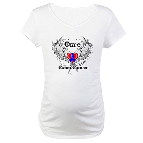 Cure Colon Cancer Maternity T-Shirt
