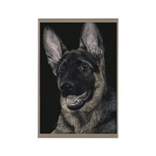 GSD Pup 2 - Rectangle Magnet (10 pack)