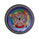 Pentacle Mandala Wall Clock