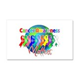 World Cancer Awareness Matter Car Magnet 20 x 12