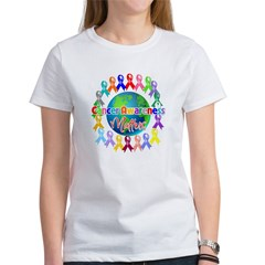 Cancer Awareness World Women's T-Shirt