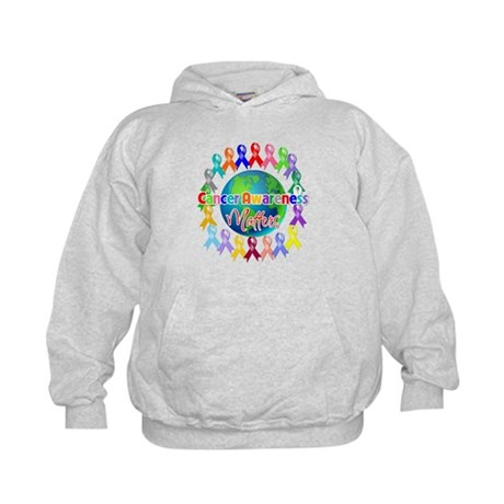 Cancer Awareness World Kids Hoodie