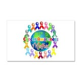 Cancer Awareness World Car Magnet 20 x 12