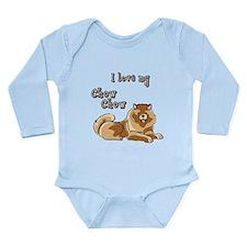 Chow Chow Long Sleeve Infant Bodysuit