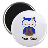 Blue Ribbon Owl Awareness Magnet