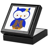 Blue Ribbon Owl Awareness Keepsake Box