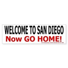 San Diego Welcome Bumper Bumper Sticker