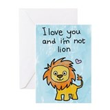 I Love You & I'm Not Lion - Valentines Day Car